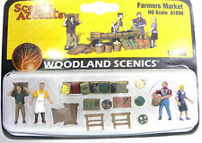 HO Scale Model Railroad Trains Woodland Scenics Farmers Market Figures 1896
