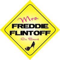 Mrs Freddie Flintoff On Board Car Sign Lancashire