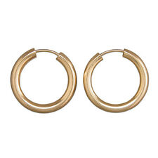 Mens extra heavy plain 9ct gold sleepers 15mm