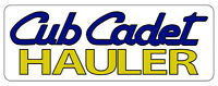 CUB CADET HAULER BUMPER STICKER - White Background - SET OF 2