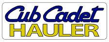 CUB CADET HAULER BUMPER STICKER - White Background - SET OF 2