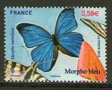 TIMBRES 4498 NEUF XX LUXE - MORPHO BLEU EN RELIEF - PAPILLON MORPHO MENELAUS