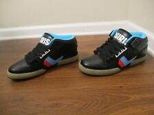 BNIB Size 11.5 Osiris NYC 83 Mid Glow-N-Dark Shoes Black Red White Blue