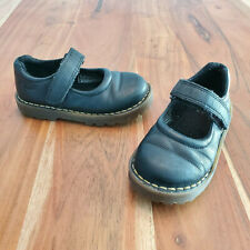 Dr Martens Black Leather Mary Jane Girls Shoes Toddler 9