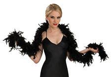 Luxury Black Feather Boa Hen Night Party Fancy Dress - 1.8M Long