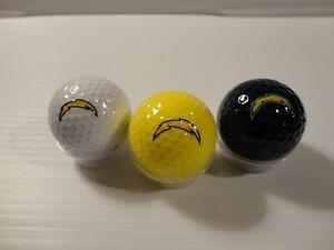 Team Golf NFL San Diego Chargers Regulation Size Golf Balls, 3 Pack, Full Color