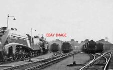 PHOTO  DONCASTER LNER LOCO SHED 1949 A4 60010 PROMINENT ALSO A C12 AND VARIOUS O
