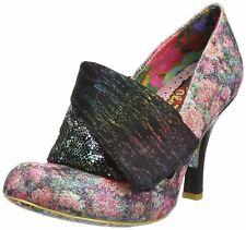 Irregular Choice Flick Flack Black Floral Multi Para Mujer Tacones Zapatos Puntera Cerrada
