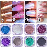 Chrome Powder Mirror Nail Art Glitter Pigment Rose Gold Pearl Silver Dust