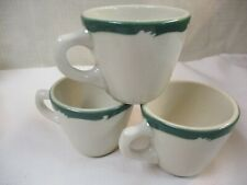 Vintage Restaurant Ware Coffee Cups Syracuse China Green Waves