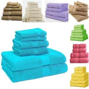 Towel Set 100% Cotton Bath Sheet Hand Large Bale 500 GSM Bathroom 6 8 Piece Sets