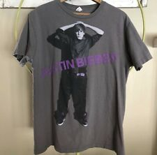 Justin Bieber Short Sleeve Gray Graphic T-Shirt 2011 Size Large