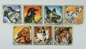 Set of 7 DOG STAMPS From MONGOLIA 1984 #C11
