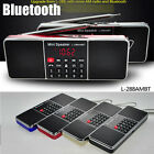 Mini Bluetooth Speaker Portable Super Bass SD/TF MP3 Player AM/FM Radio Recharge