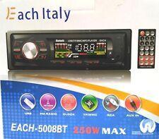 STEREO AUTO AUTORADIO BLUETOOTH MP3 USB SD RADIO FM CAMPER BARCA EACH-5009BT