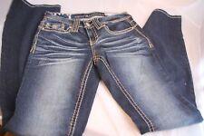 NWT Vanity Premium Curvy Boot Cut Denim Rhinestones Jeans Size 26W x 33L