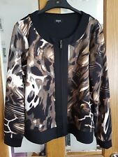 Designer Klass Khaki, Black and Cream zip up Jacket BNWOT