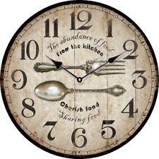 """Orologio da parete stile vintage """"From the Kitchen"""", in legno, cm 34"""