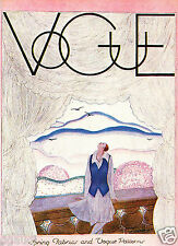 """1920s Vogue Cover  """"Spring Fashions Vogue Patterns""""  8.5 x 11 Giclee Print"""