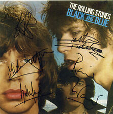 THE ROLLING STONES Signed 'Black and Blue' Photograph - Rock Band - preprint