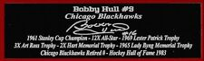 Bobby Hull Nameplate Chicago Blackhawks Autograph Photo Puck Hockey Jersey