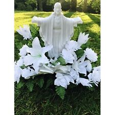 Eternal Light Solar Powered Lights Jesus Cemetery Prop Christian Art Christmas W