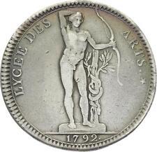O3689 Constitution Jeton Lycée Arts 1792 Argent Silver ->Faire offre