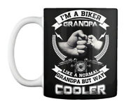 Im A Biker Grandpa Like Normal - But Way Cooler Gift Coffee Mug