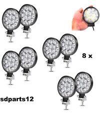 8X 42W Lampada LED Faro Lavoro Tondo Luce Faretti SUV Barca Trattore ATV 12/24V