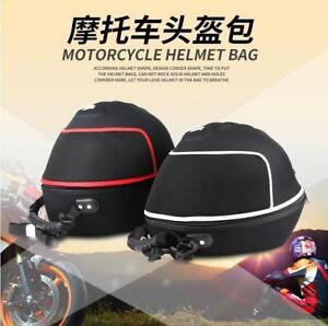 Black Motorcycle Bike Car Karting Crash Helmet Bag Carrier Shell Store Free P&P