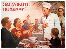 PROPAGANDA URSS Il comunismo Chef lode Poster Art Print cm 30x40 bb2750b