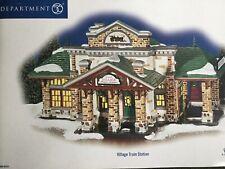 Dept 56 Snow Village® Village Train Station - Brand New Still In Plastic