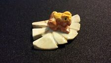 FROG Spirit Animal Pocket Totem Carved Dolomite Stone 1.25 Figurine Various Peru