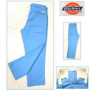 VINTAGE DICKIES Royal Blue Work Trousers Pants Chino Skate Golf  W36 L30