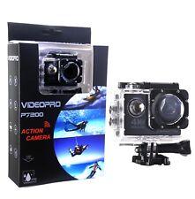 4K 30fps Ultra HD WIFI Camara para el Agua 16MP 2 pulgadas LCD Negra como GoPro