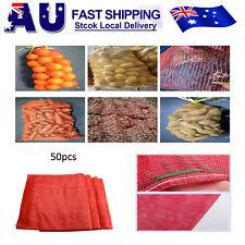 50 Qty - 50 x80cm Onion Sack/Mesh Bag, Art Crafts Bag Feed Bag Beach Toy Bag....