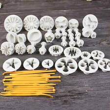 47pcs Cake Decorating Fondant Sugarcraft Icing Plunger Cutters Tools Mold Mould
