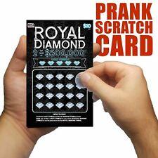 Prank Lottery Tickets, Joke Scratch-its LOTTO fake scratch cards winning ticket.
