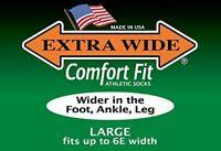 Extra Wide Dress Socks Tan Brown Black Navy 2700 3800 Made in USA BIG & TALL