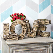 Shabby Chic Love osier Lettres Signe Vintage Rustique Mariage Décoration De Table