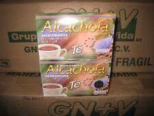2 X BOXS  TE DE ALCACHOFA  + GREEN TEA LOSE WEIGHT, UNISEX GN+VIDA , ORIGINAL.