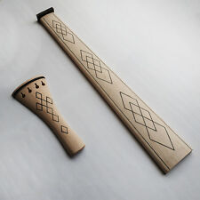 Violin Maple Fingerboard Tailpiece fit 4/4 Size BROTHERS AMATI Style Drawing