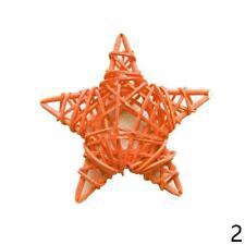 5XFive Star Cane Rattan Craft Decoration Christmas Wedding Birthday Ornament 6cm