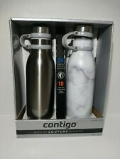 Contigo Couture 2-Pack Vacuum Insulated Water Bottles 20 Oz Each Brand New!