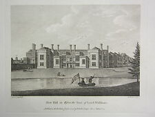 1779 DATED PRINT ~ NEW HALL IN ESSEX ~ THE SEAT OF LORD WALTHAM
