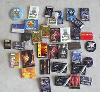 Lot of 36 1980s 1990s Movie Promo Pin Pinbacks Batman Casper MArs Attacks MORE