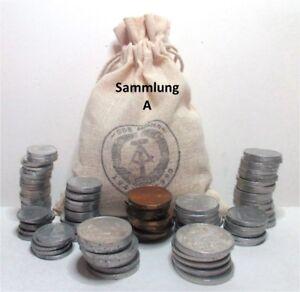 DDR Sammlung (en) von 1948 - 1989 nur verschiedene Münzen 1 Pf - 2 Mark OSTALGIE