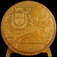 Médaille Blason et armes de la ville de Givors vue du Rhöne sc Tschudin medal