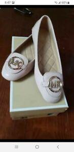 Michael Kors $99 NEW Size 6■ Lillie Moc Smokey Rose ■ Leather MK Gold Moccasin
