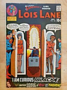 """Superman's Girlfriend Lois Lane #106 DC Comics """"I Am Curious Black!"""" 1970"""